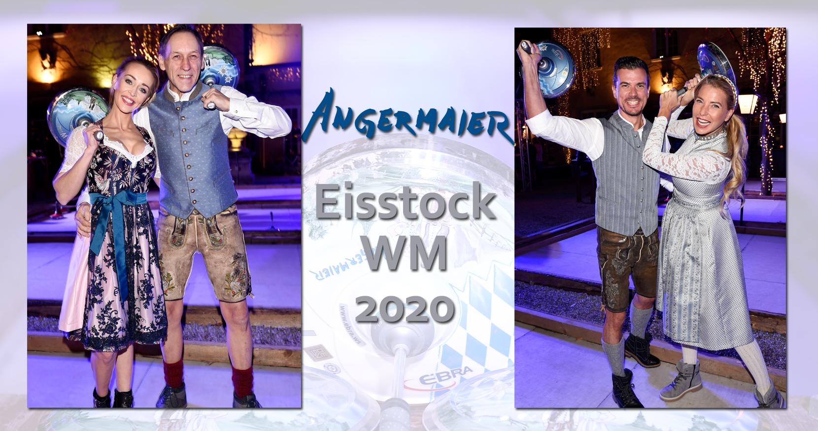 Eisstock-WM in Tracht