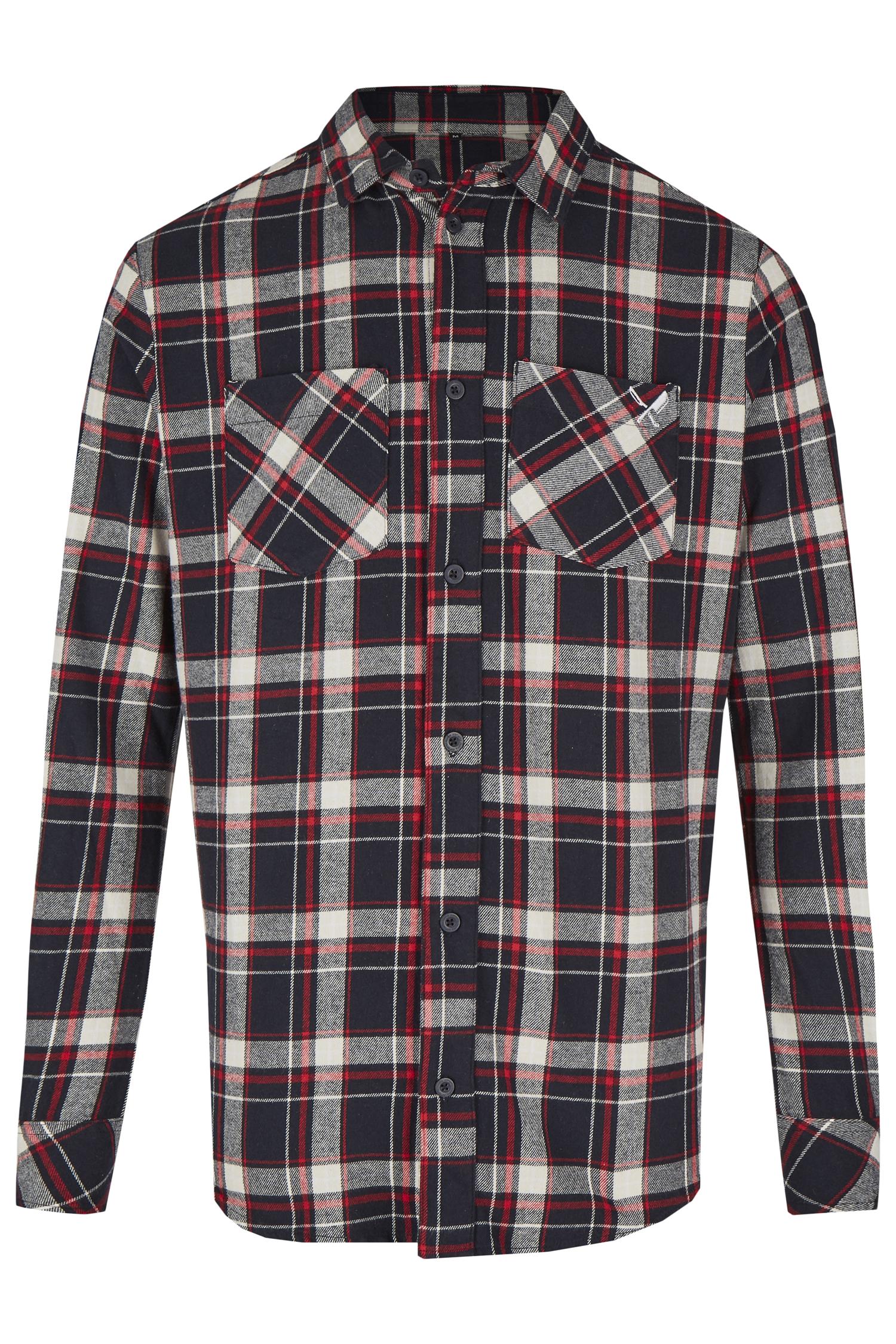 Trachtenhemd Distorted People Flannel S | navy