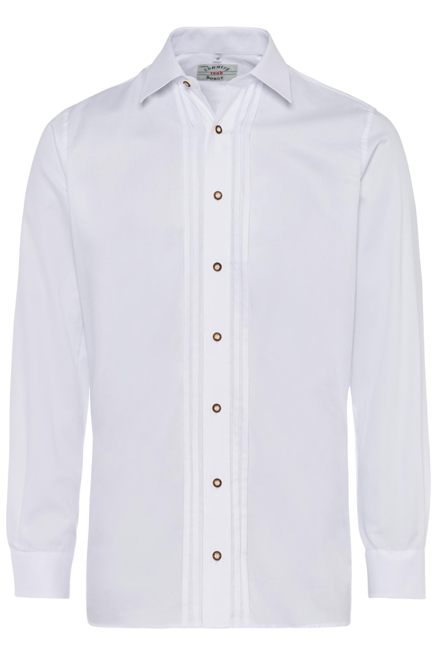 Trachtenhemd 42 | 1 weiß