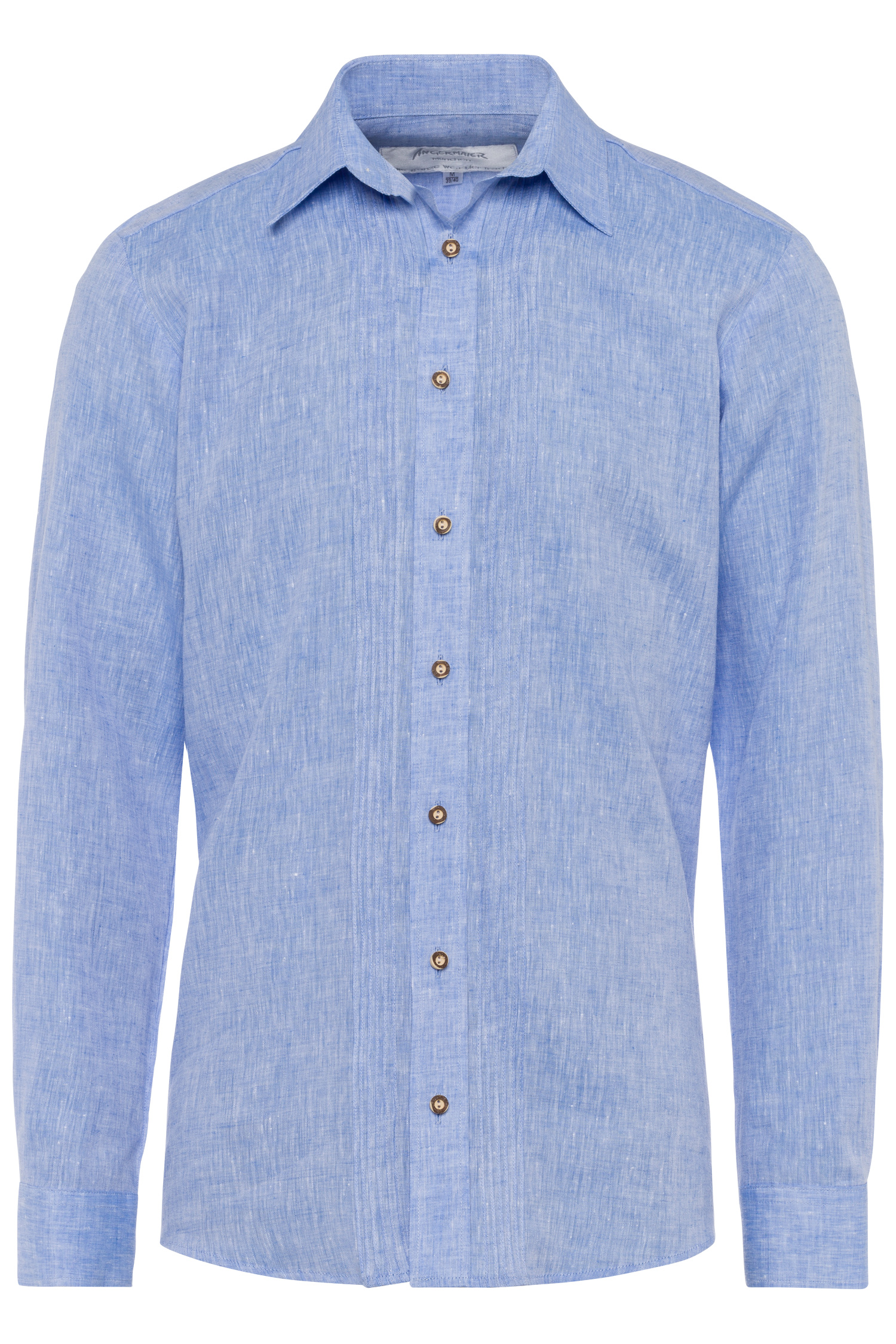 Trachtenhemd Leinen XXL | hellblau 1211