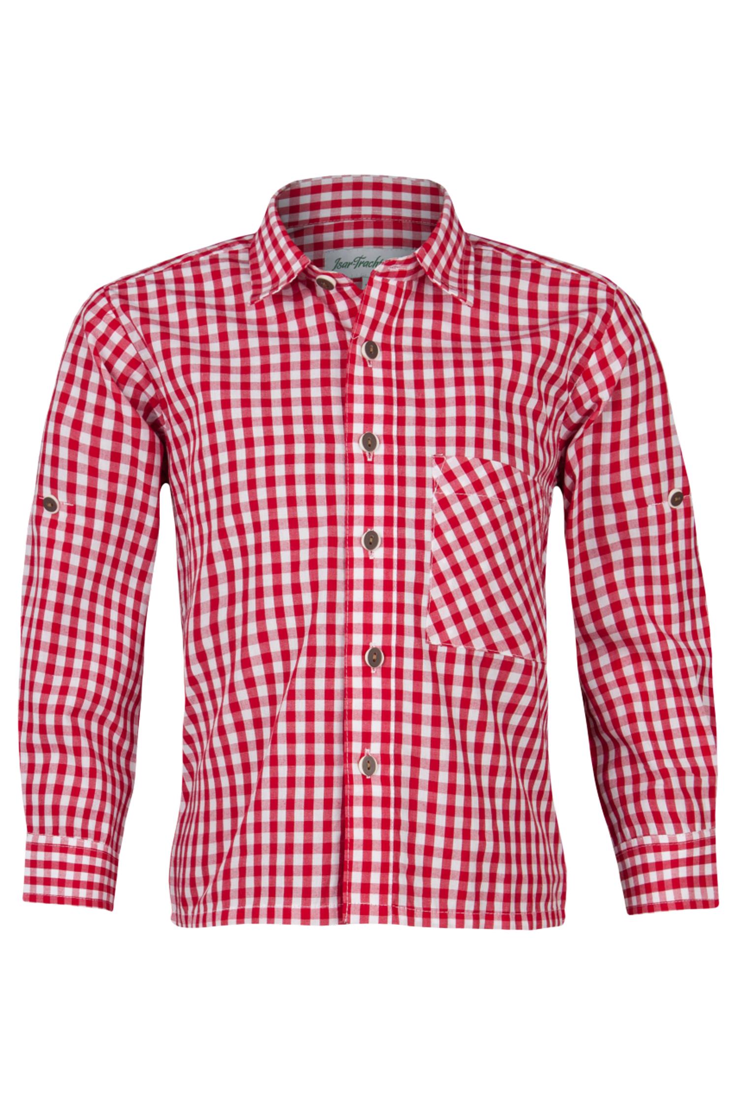 Kindertrachtenhemd Karo 110 | rot