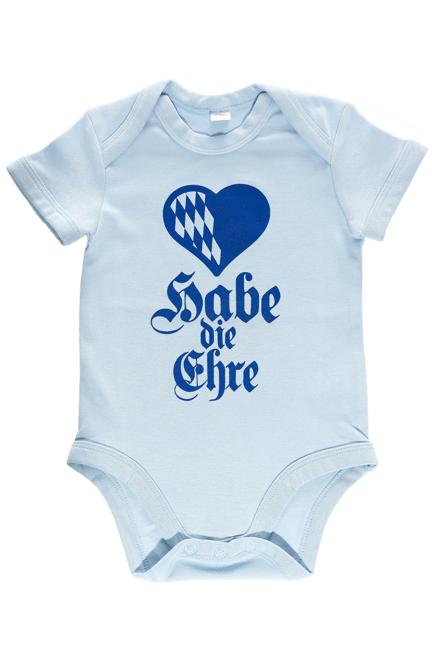 Babybody Habe die Ehre 0-3 mo | dust blue