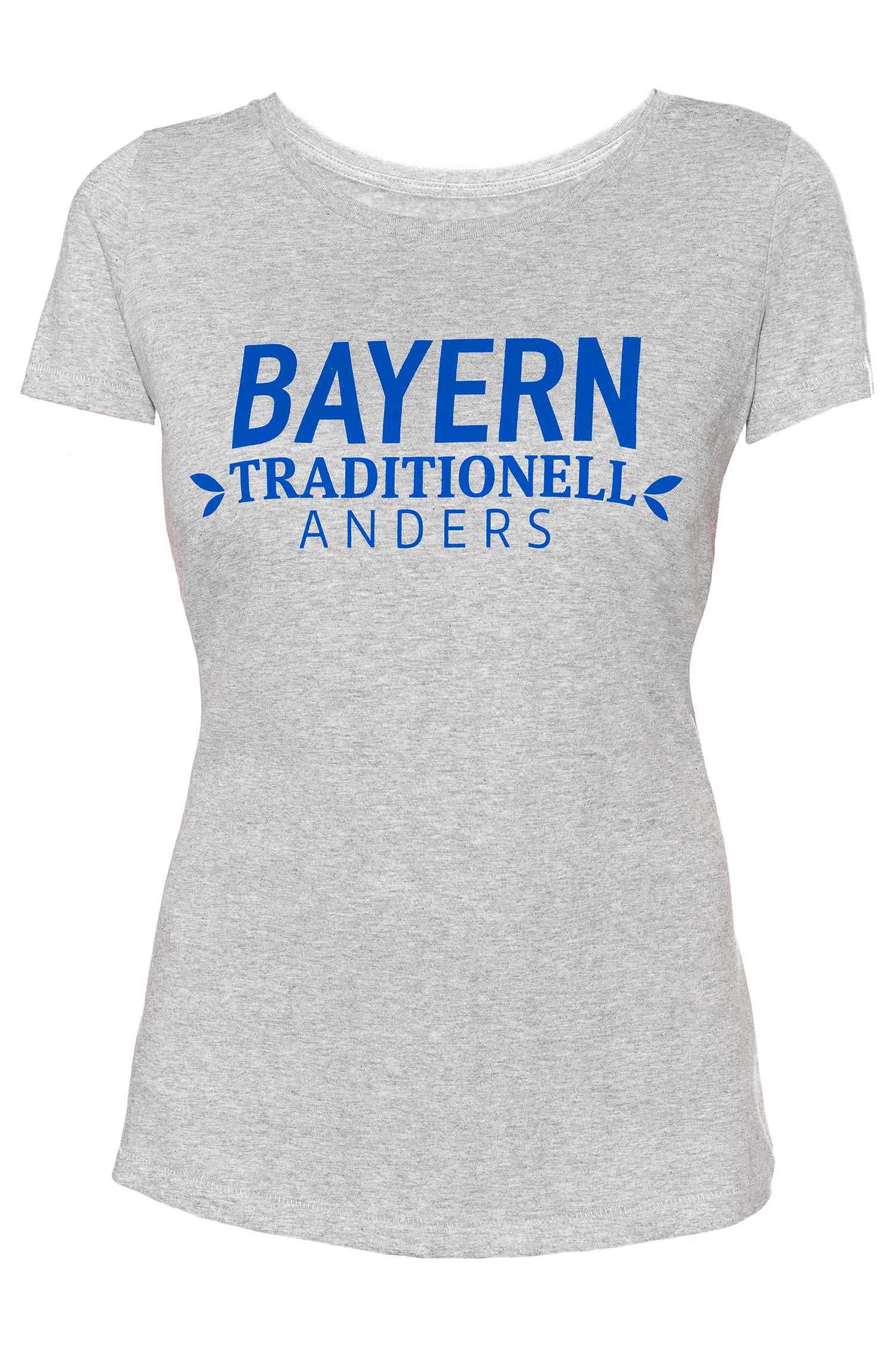 T-Shirt Bayern traditionell anders Damen XS | grau / blau