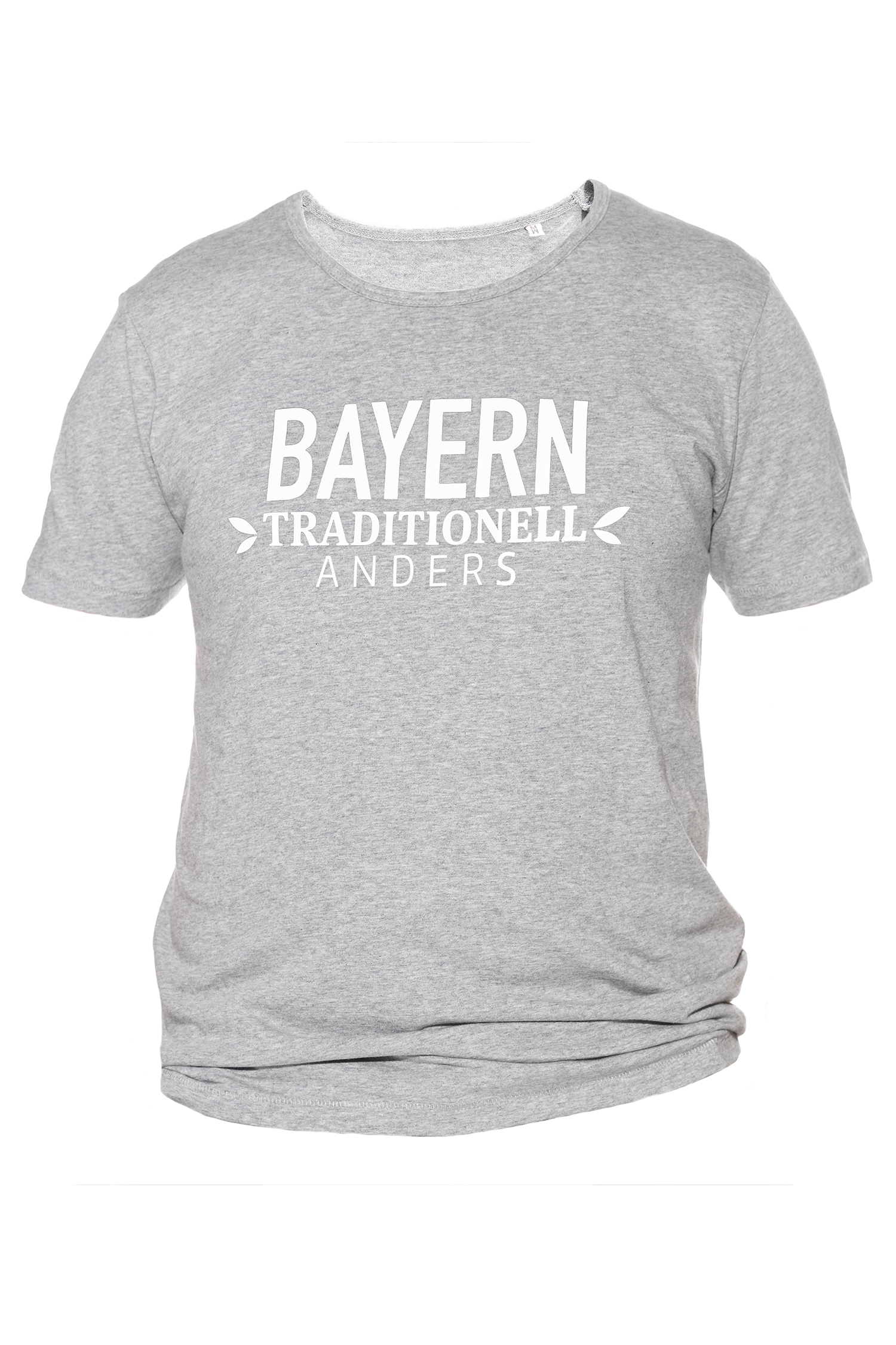 T-Shirt Bayern traditionell anders M | grau / weiß