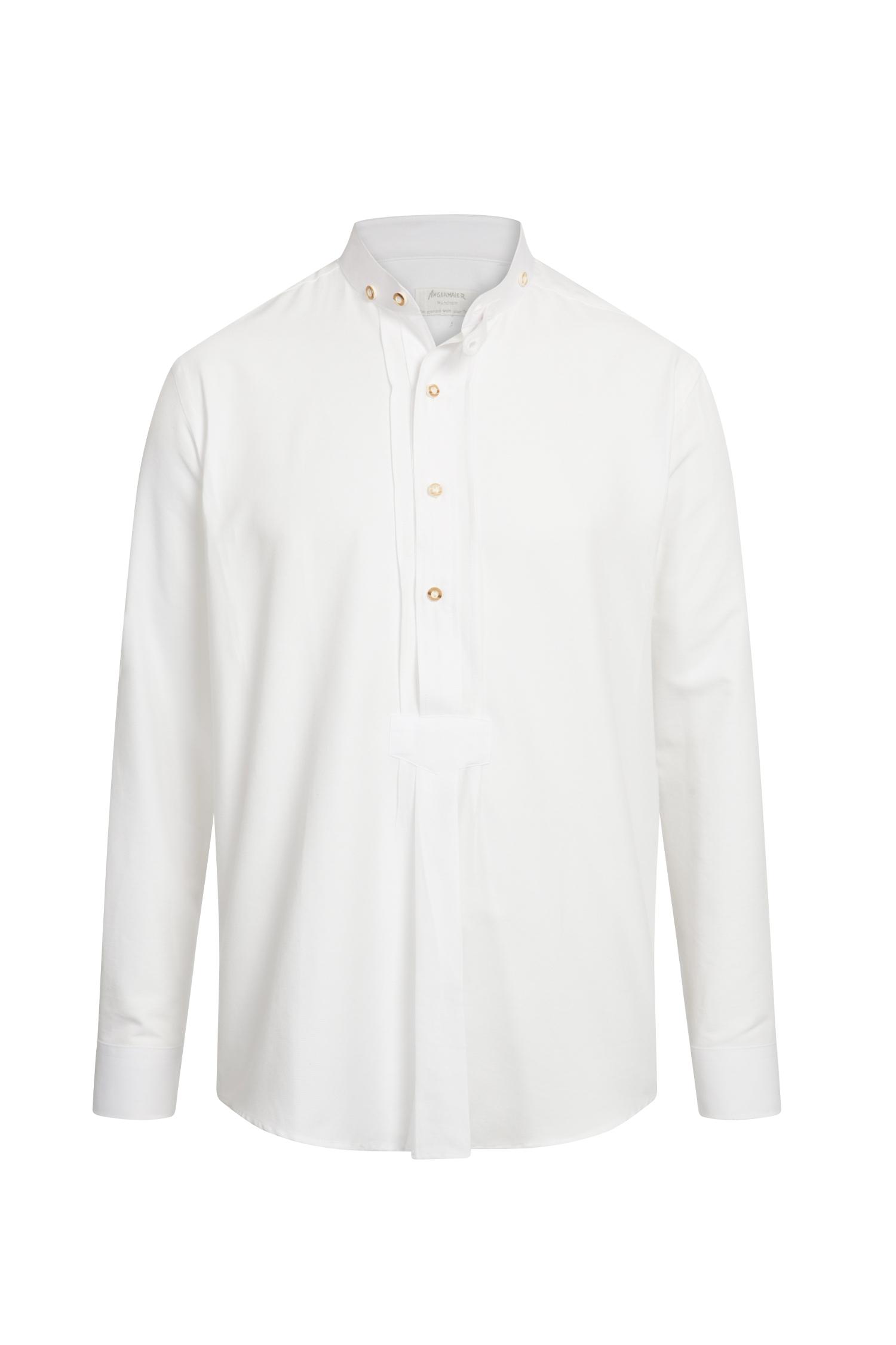 Trachtenhemd Stehkragen XXL | weiß