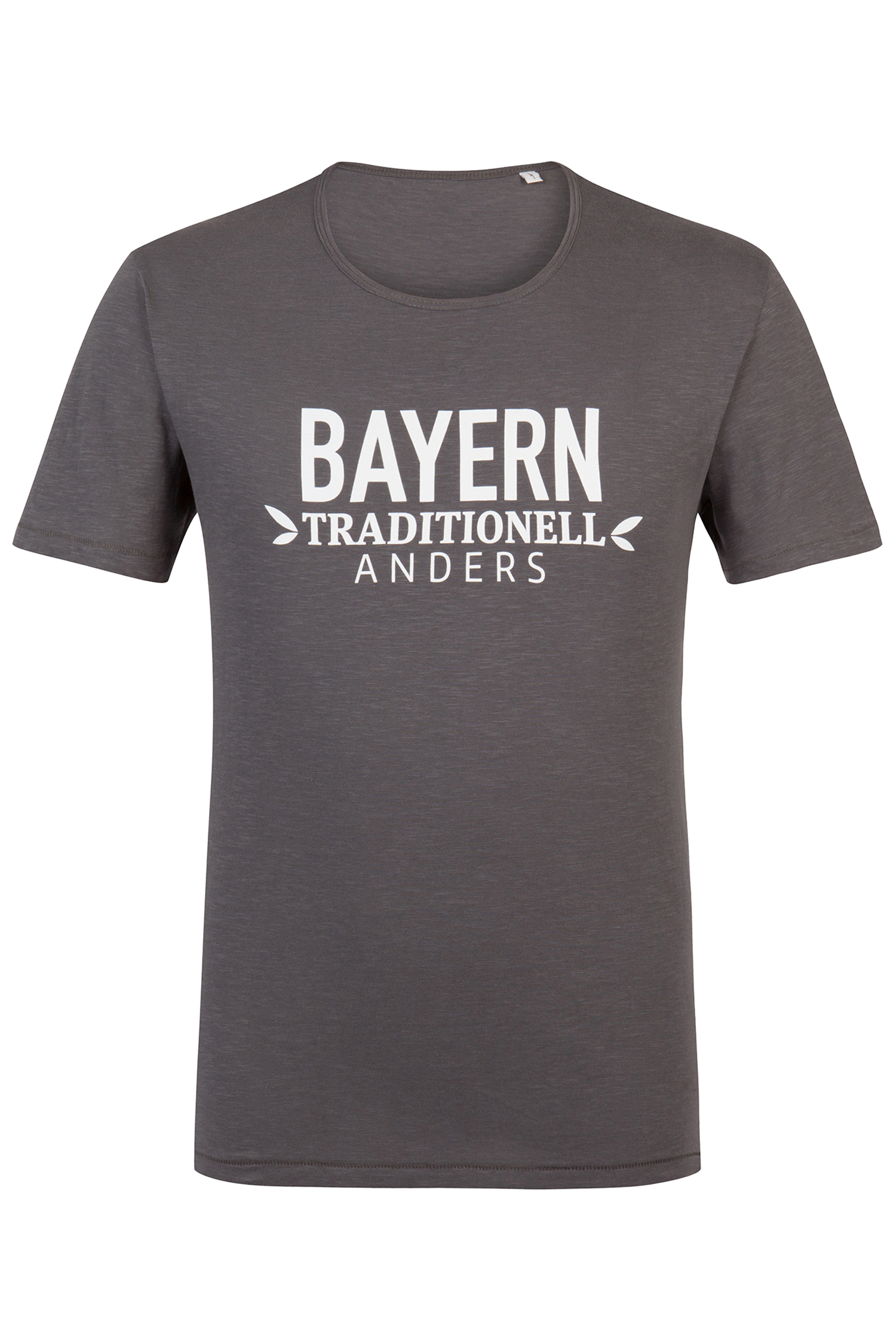 T-Shirt Bayern traditionell anders L | anthra / weiß