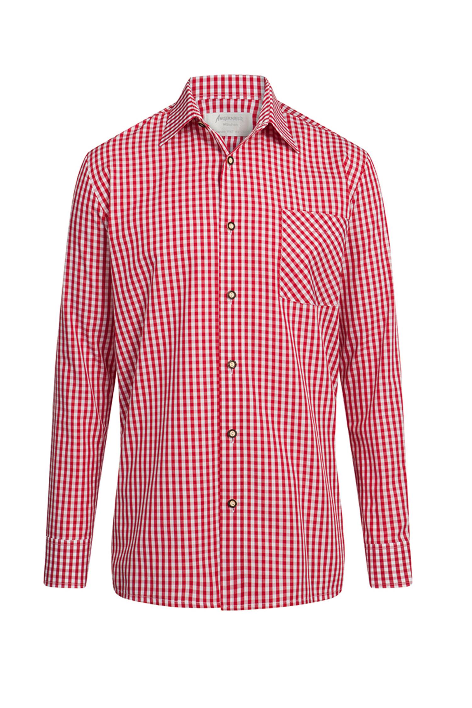 Trachtenhemd L | rot-karo