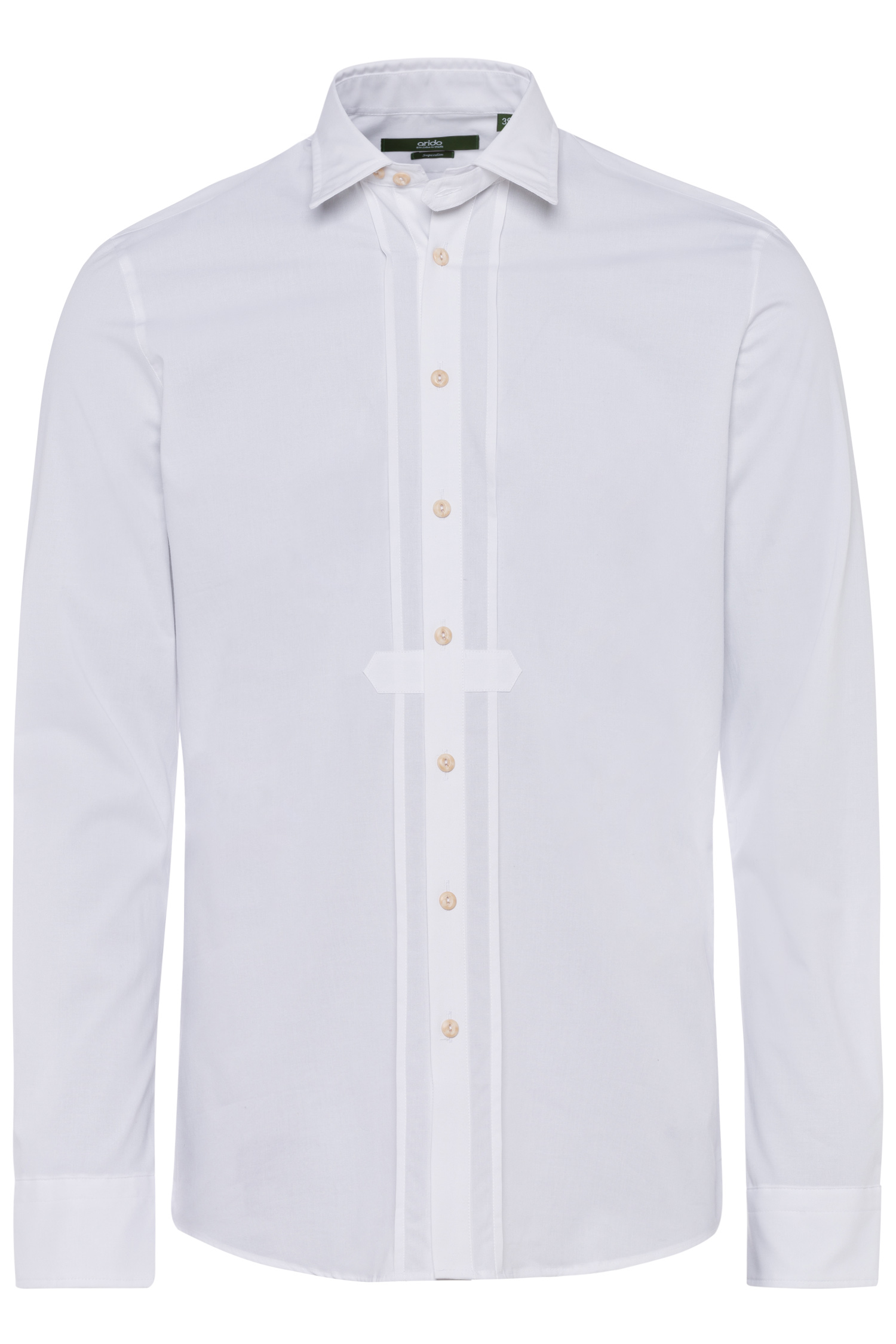 Trachtenhemd Superslim 43 | 00 weiß