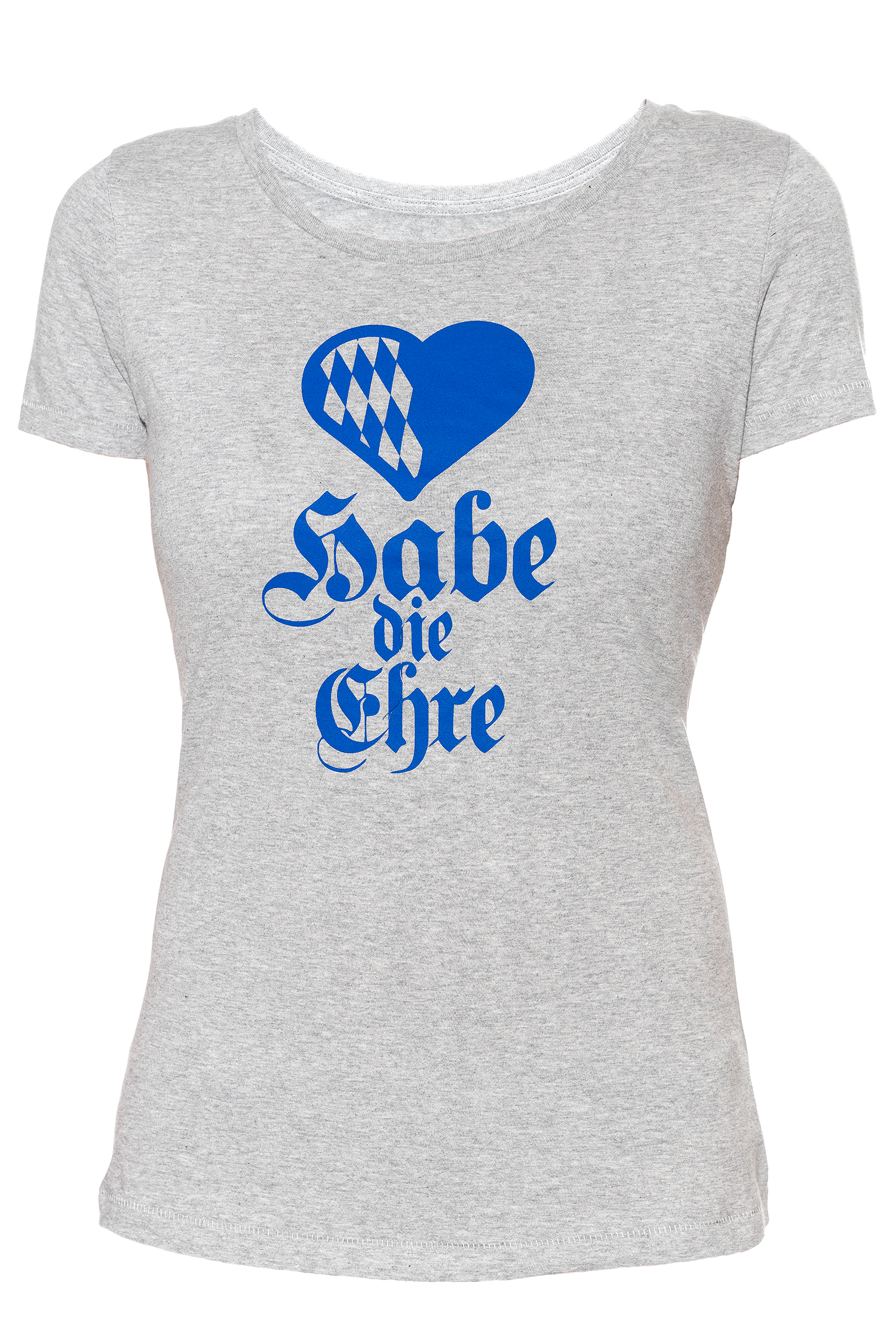 T-Shirt Habe die Ehre Damen M | heather grey