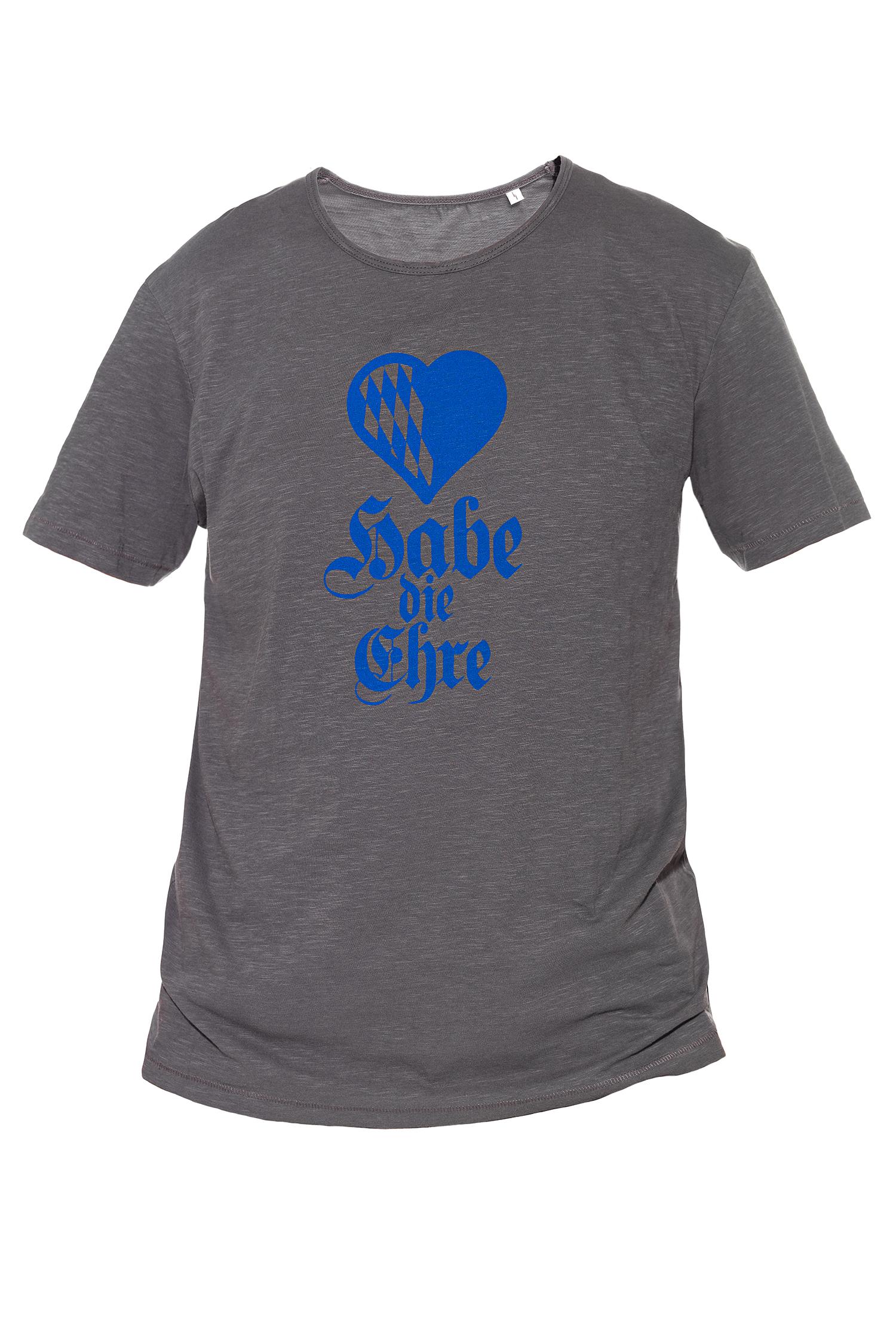T-Shirt Habe die Ehre Herren L | anthracite