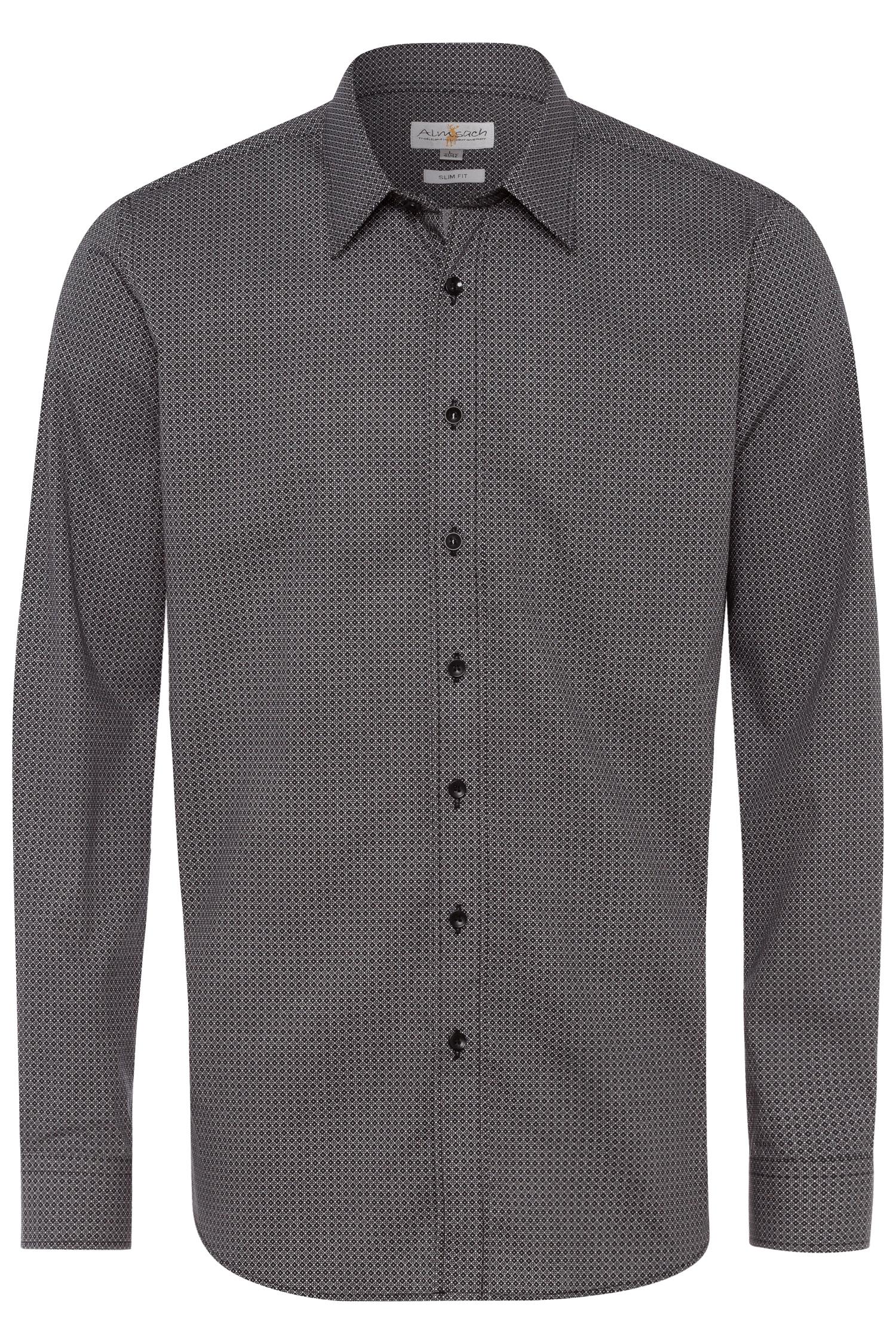 Trachtenhemd Slimfit L | 3082 schwarz