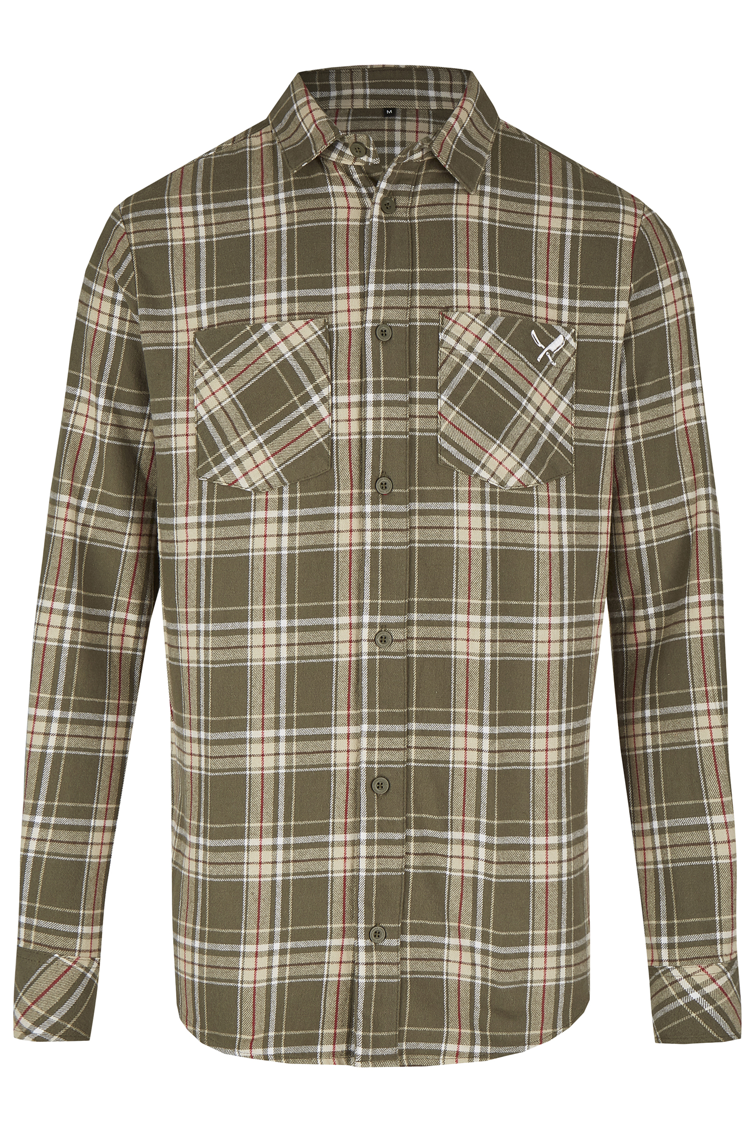 Trachtenhemd Distorted People Flannel S | olive