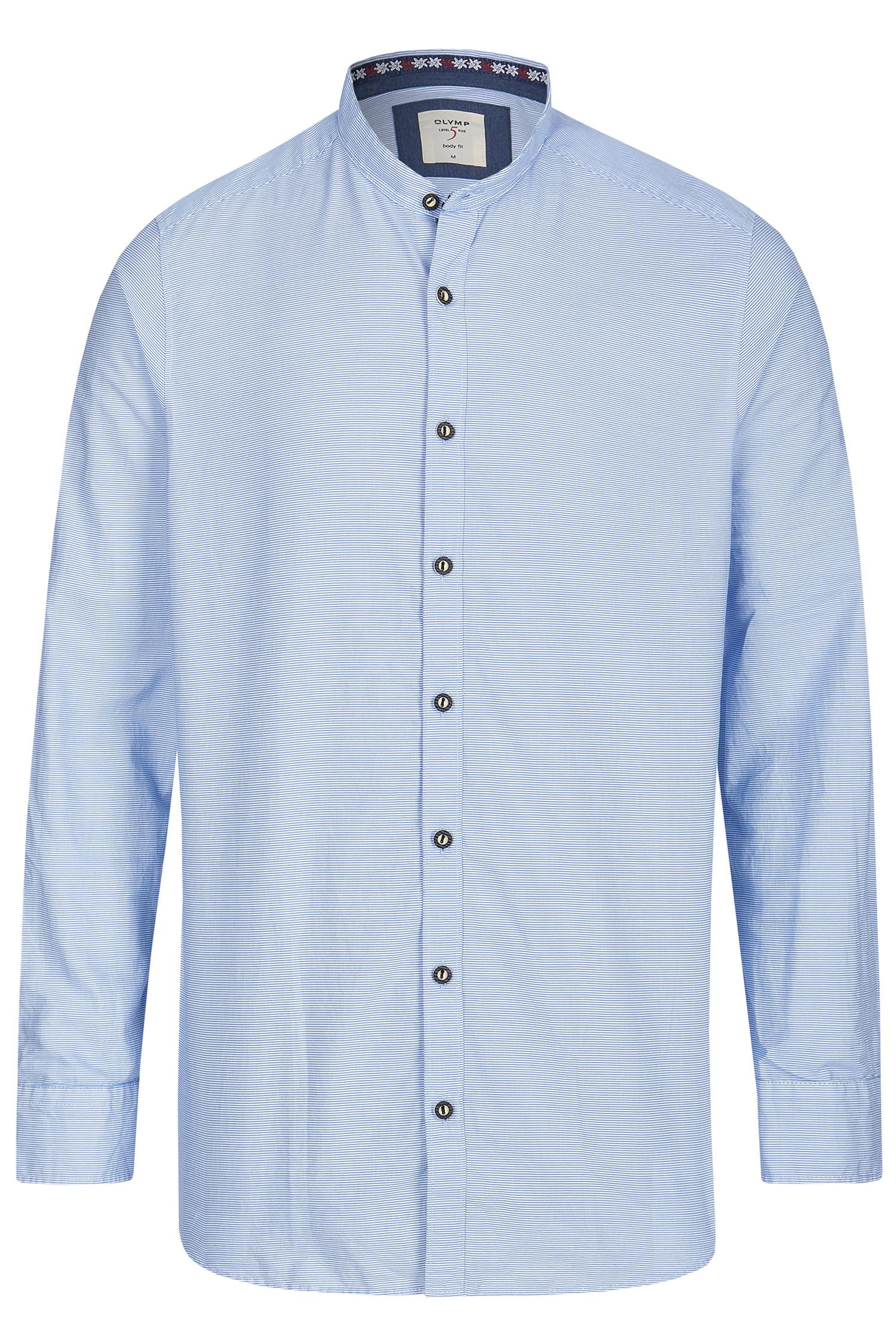 Trachtenhemd Querstreifen S | blau 11