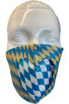 Gesichtsmaske Herz beige-blau 1