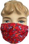 Kinder Gesichtsmaske rot 1