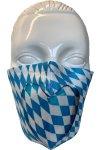 Gesichtsmaske Herz Weiß-Blau 1
