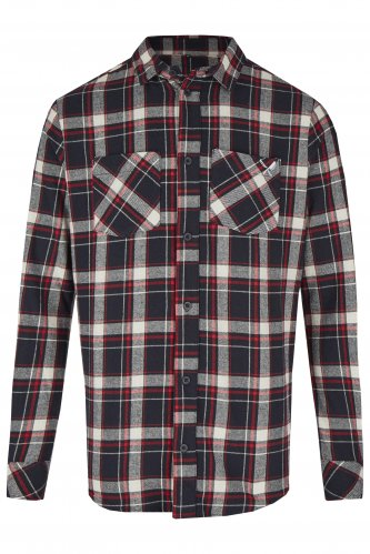 Trachtenhemd Distorted People Flannel L | navy