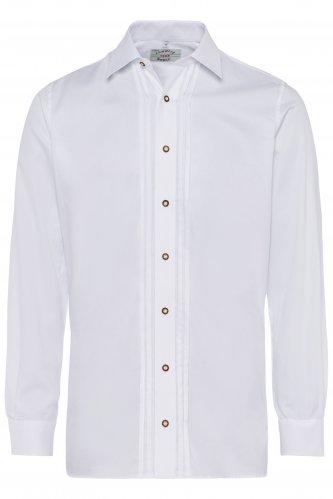 Trachtenhemd 43 | 1 weiß