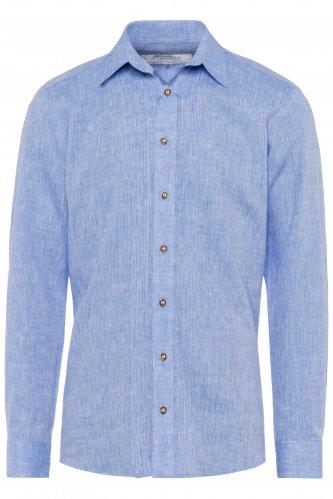 Trachtenhemd Leinen M | hellblau 1211