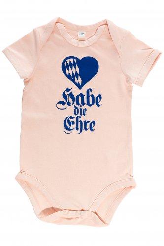 Babybody Habe die Ehre 0-3 mo | powder pink