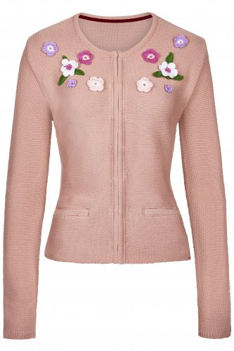 Strickjacke Flower 38 | rosa