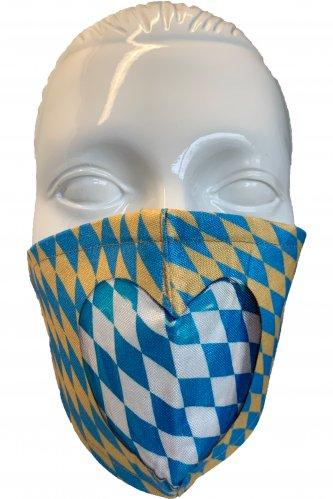 Gesichtsmaske Herz beige-blau * | beige - blau