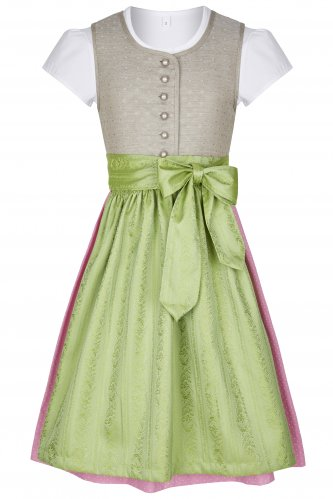 Kinderdirndl Anja 110 | 1650 taupe-grün