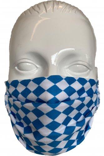 Gesichtsmaske Raute Weiß-Blau * | weiß - blau