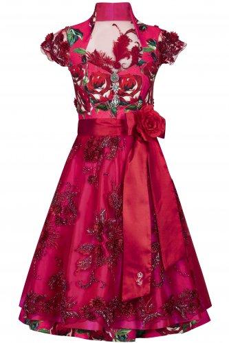 Dirndl Wilde Rose 38 | rot / pink