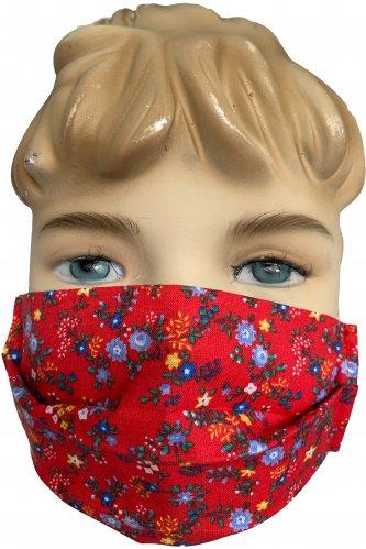 Kinder Gesichtsmaske rot *   rot