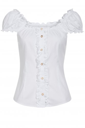 Trachtenbluse Bustier 36 | white