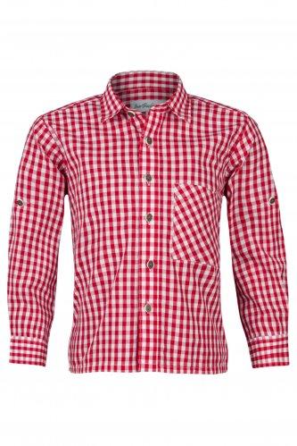 Kindertrachtenhemd Karo 104 | rot