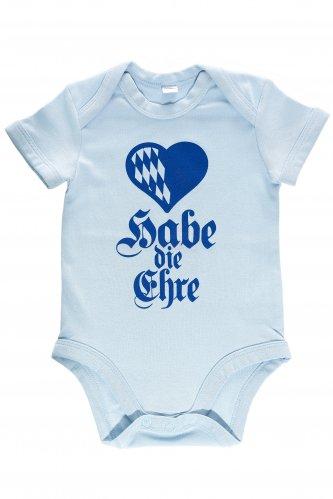 Babybody Habe die Ehre 6-12 mo | dust blue