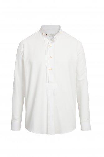 Trachtenhemd Stehkragen S | weiß