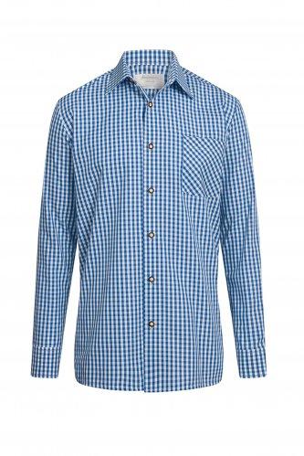 Trachtenhemd S | blau-karo