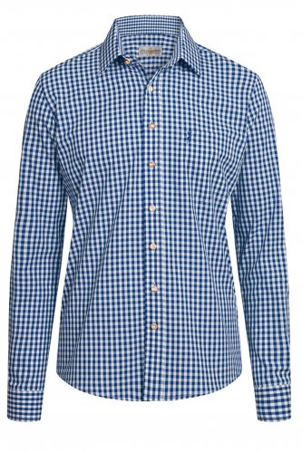 Trachtenhemd Karo Slimfit M | jeans