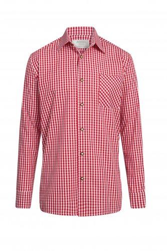 Trachtenhemd M | rot-karo