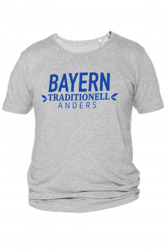 T-Shirt Bayern traditionell anders XL | grau / blau