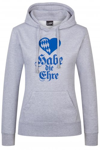 Hoodie Habe die Ehre Damen XL | heather grey