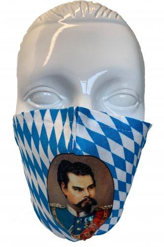 Gesichtsmaske König Ludwig * | weiß - blau