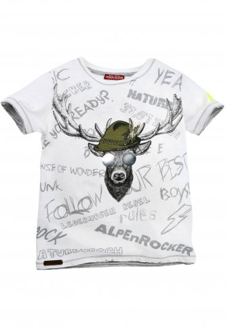 T-Shirt Hirsch 104 | 100 weiß