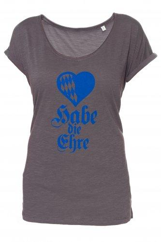 T-Shirt Habe die Ehre Damen L | anthracite