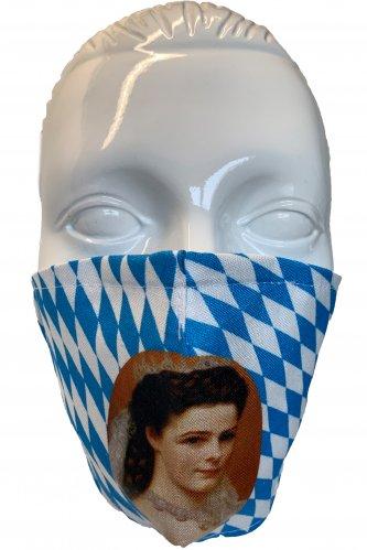 Gesichtsmaske Sissi * | weiß - blau