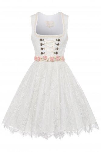 Brautdirndl Samira mit Blütengürtel 32 | 2 ecru