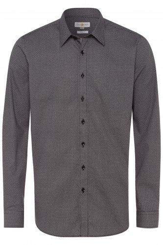Trachtenhemd Slimfit M | 3082 schwarz