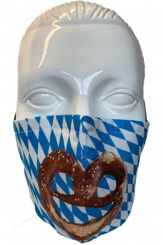 Gesichtsmaske Brezn * | weiß - blau