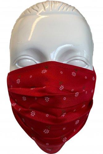 Gesichtsmaske rot * | rot