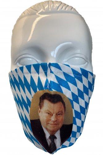 Gesichtsmaske Franz Josef Strauß * | weiß - blau
