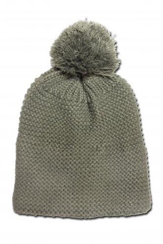 Mütze mit Bommel * | oliv