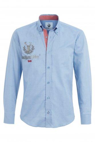 Trachtenhemd Button-Down S | hellblau